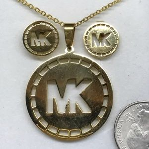 Michael Kors Necklace And Earrings Set